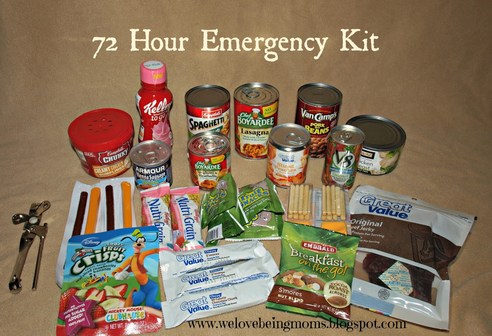Food For  Hour Emergency Kit