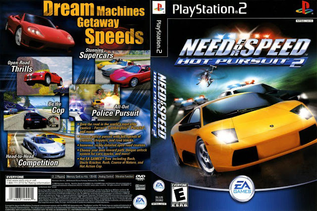 Descargar Need for Speed - Hot Pursuit 2 ps2 iso NTSC-PAL: (NFSHP2), también conocido como Need For Speed 6 - Hot Pursuit 2 es un videojuego de carreras publicado y desarrollado por Electronic Arts. Lanzado el 21 de octubre de 2002, está disponible para Nintendo GameCube, PlayStation 2, Xbox y Windows. Es el primer Need For Speed lanzado para las videoconsolas de séxta generación, y el juego debut de EA Black Box.
