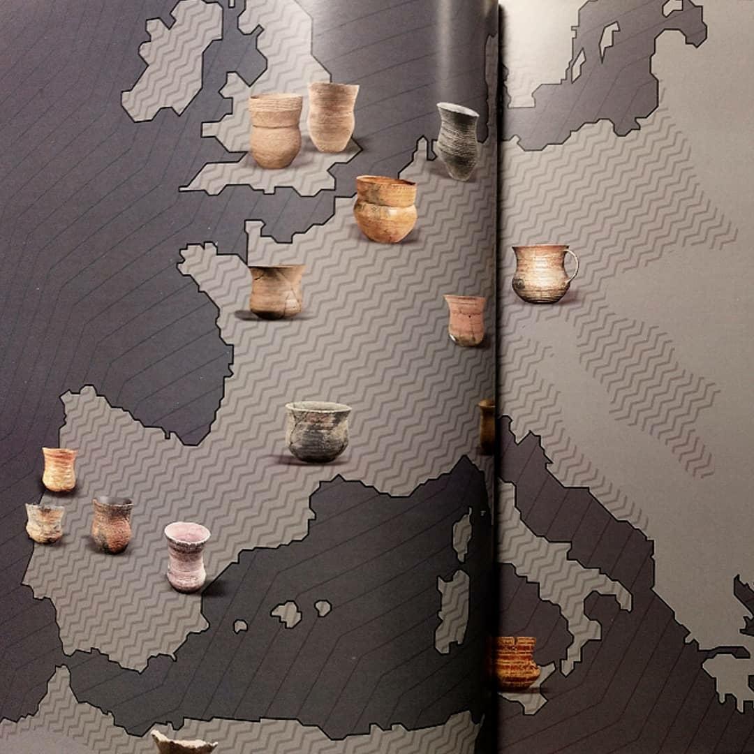 Mapa de dispersión de ajuares con vasos campaniformes. Catálogo ¡Un brindis por el príncipe!