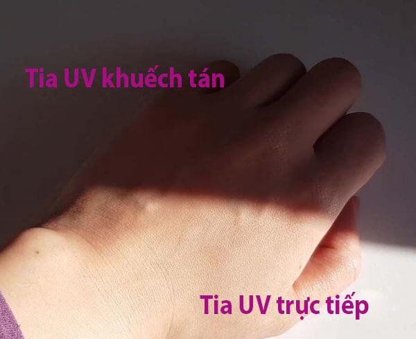 Trong bóng râm chúng ra vẫn tiếp xúc với những tia UV khuếch tan