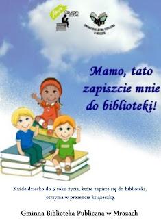 Plakat zachęcający rodziców do zapisania dzieci do biblioteki
