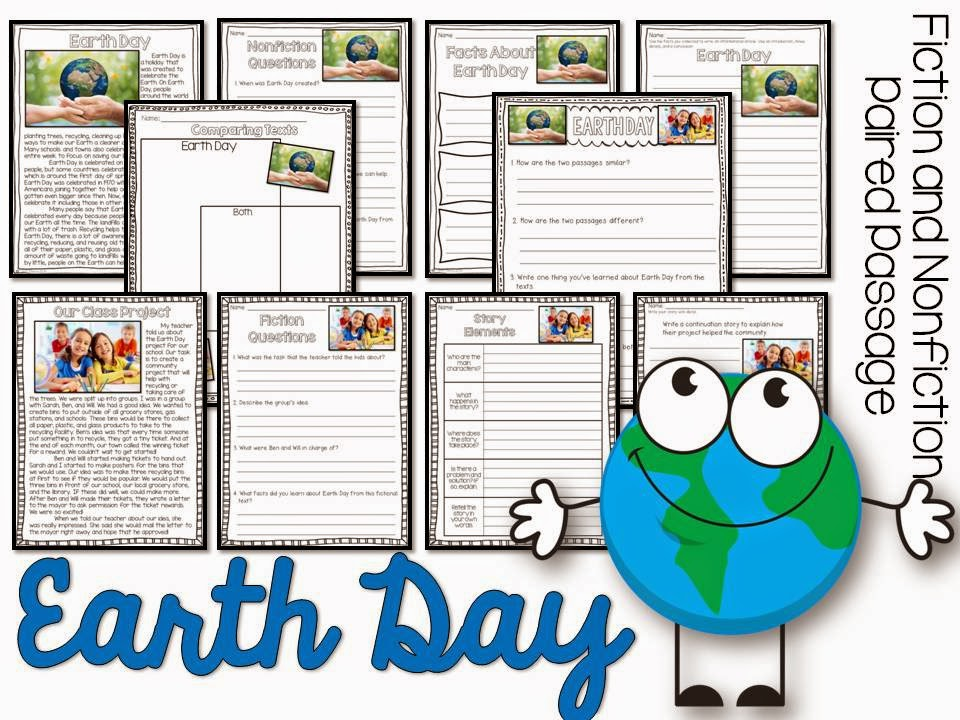 April Fiction and Nonfiction Paired Texts- all about Earth Day