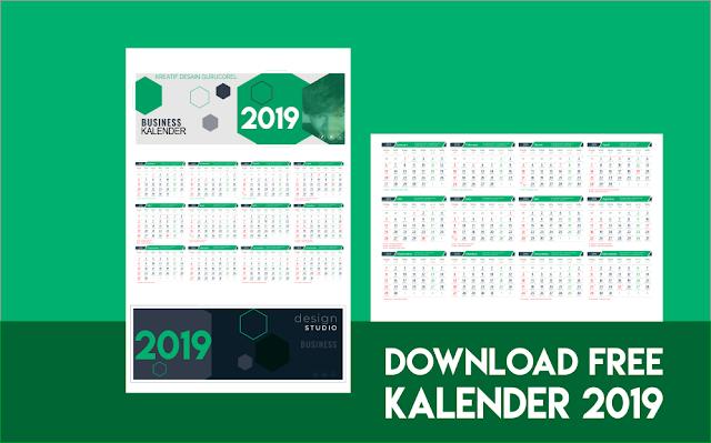template kalender 2019 cdr