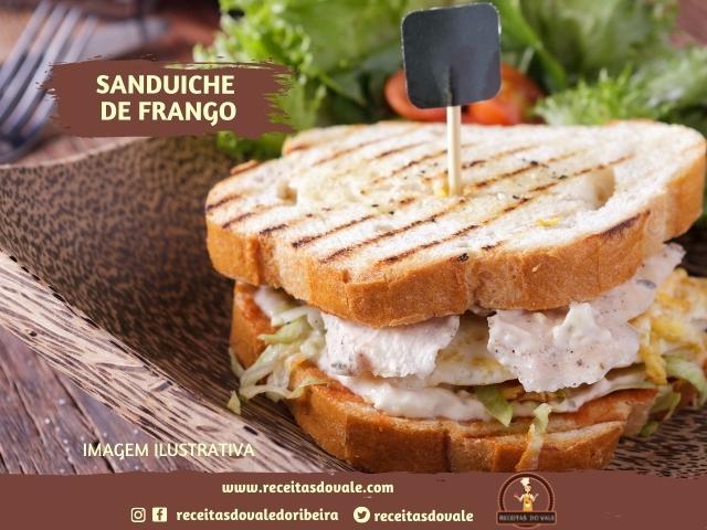 Receita de Sanduíche de Frango