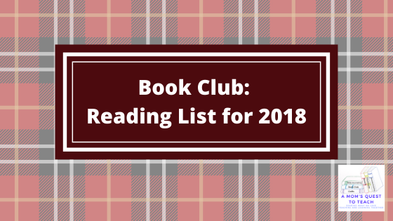 Text: Book Club: Reading List for 2018