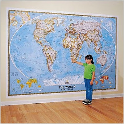 Ultimate Globes Its A Mural Its A Map Its Both Interior Design - National geographic political map