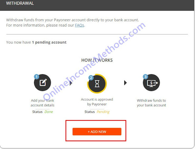 Transfer Money From Payoneer To Bank Account