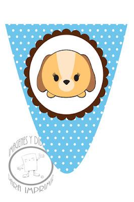 Banderines de Tsum Tsum con personajes para imprimir