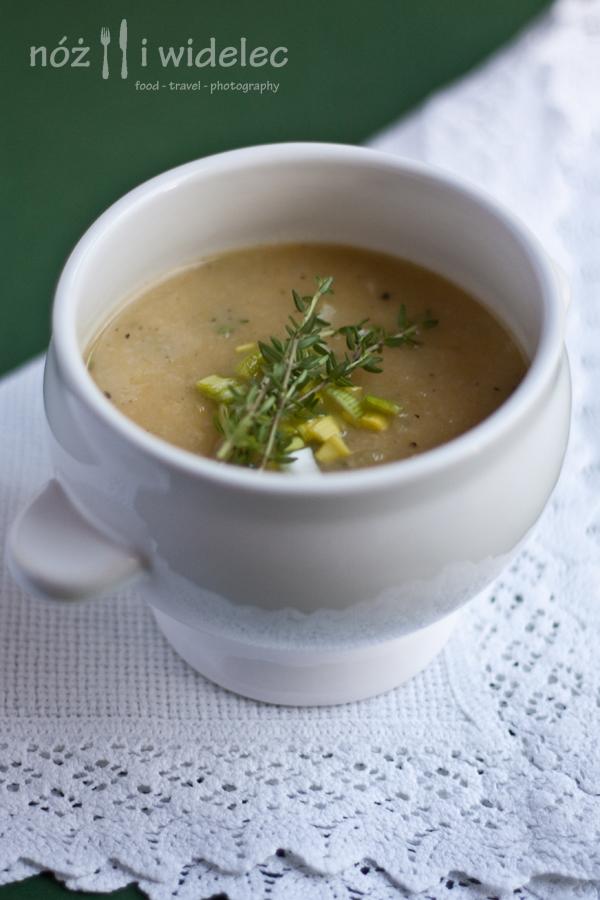 zupa, krem, por