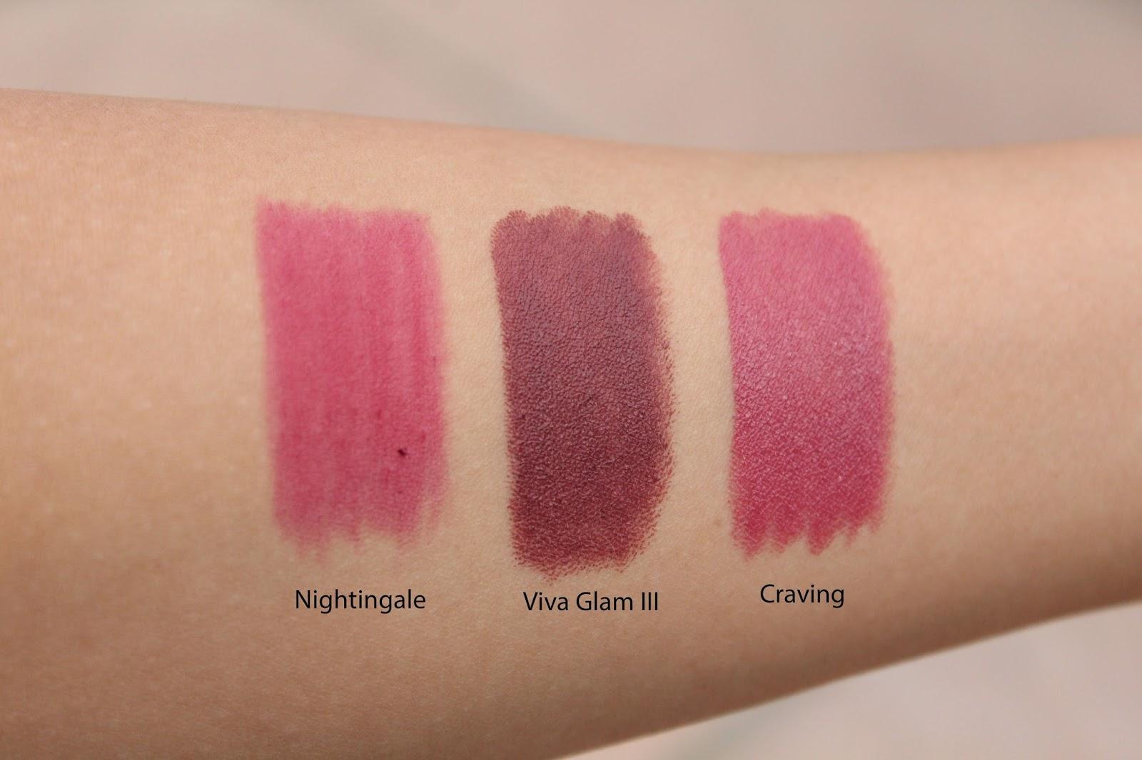 Get Gawjus: New MAC Lipsticks - Viva Glam III, Craving & Nightingale
