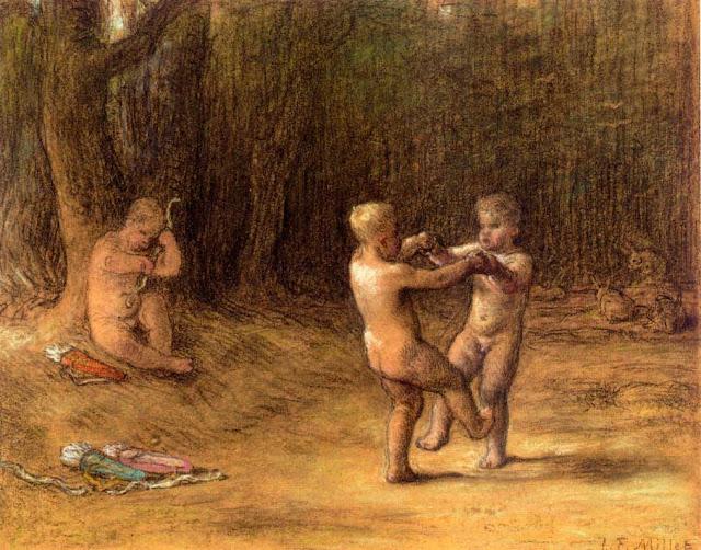 Жан Франсуа Милле - Танец Амура. 1860