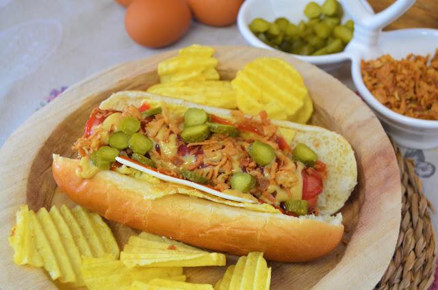 Las delicias de Mayte, perrito caliente especial, hot dog house, receta perritos new york, perrito caliente, hot dog recetas, hot dog receta, perrito caliente diferente, hot dog,