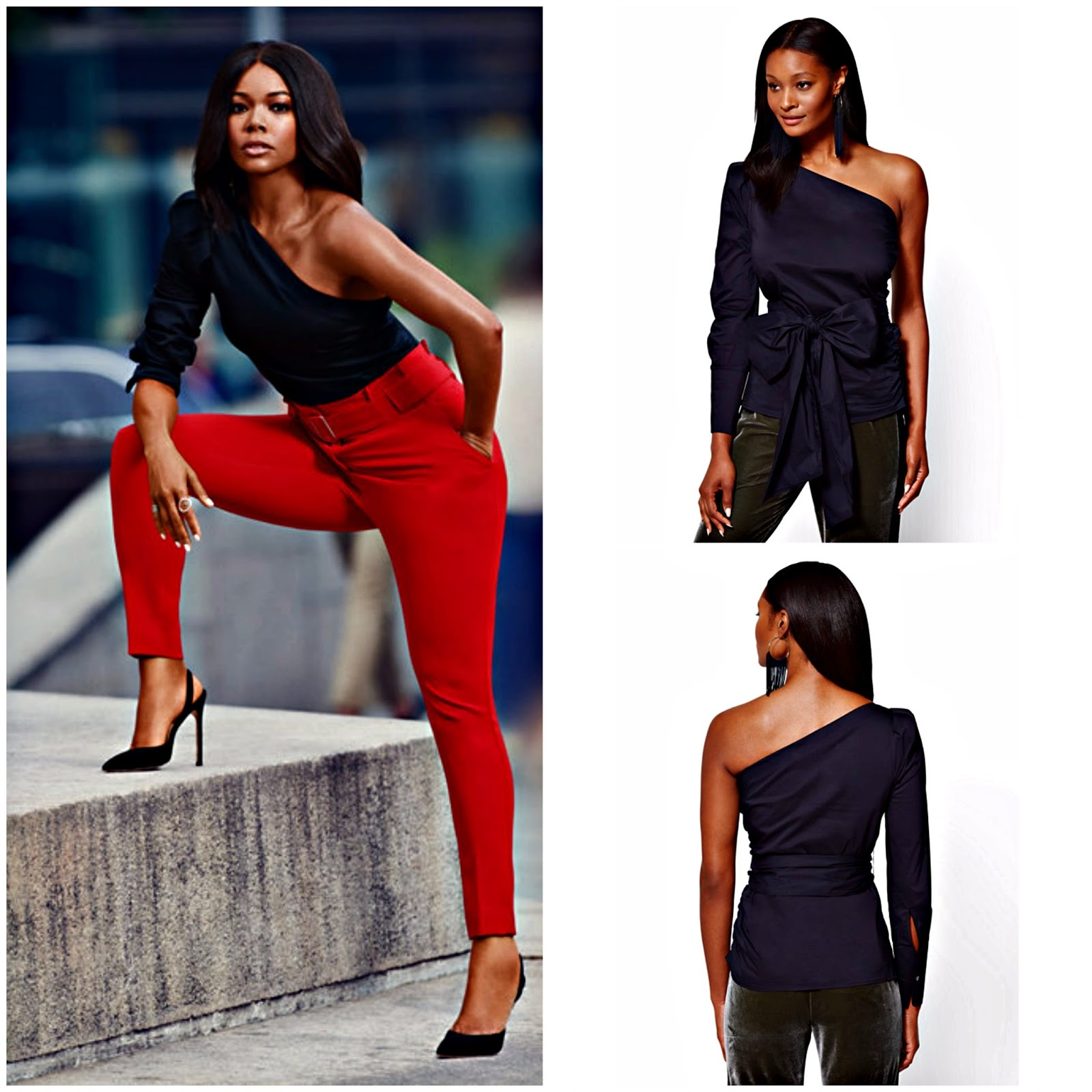 Click here to add the 7th Avenue - One-Shoulder Top to your fall wardrobe