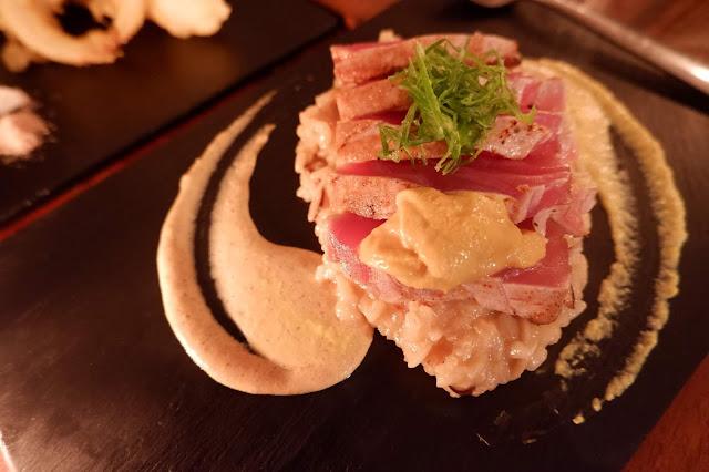 nikkei sea urchin risotto seared tuna