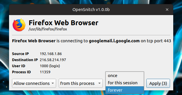 How To Install OpenSnitch Application-Level Firewall In