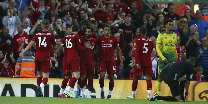THE REDS MENANG ! Hasil Laga Pembuka Liga Inggris Liverpool vs Norwich City - SBOBETHOKI
