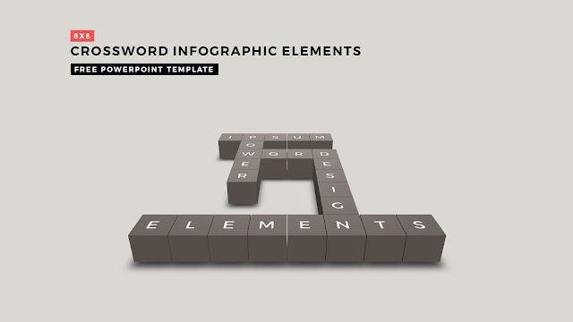Crossword Puzzles Infographic Elements for PowerPoint Templates Main Title Silde