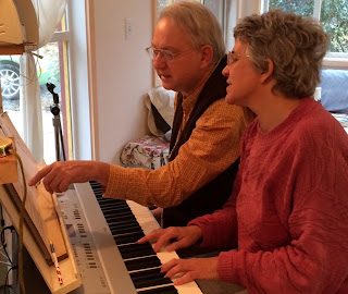 Randy Kloko and Jane Peppler at the piano