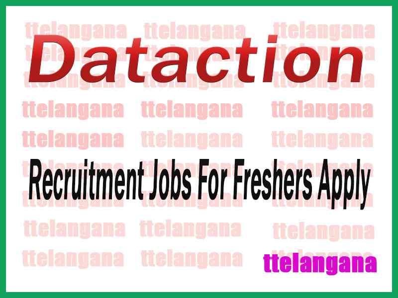 Dataction Recruitment Jobs For Freshers Apply