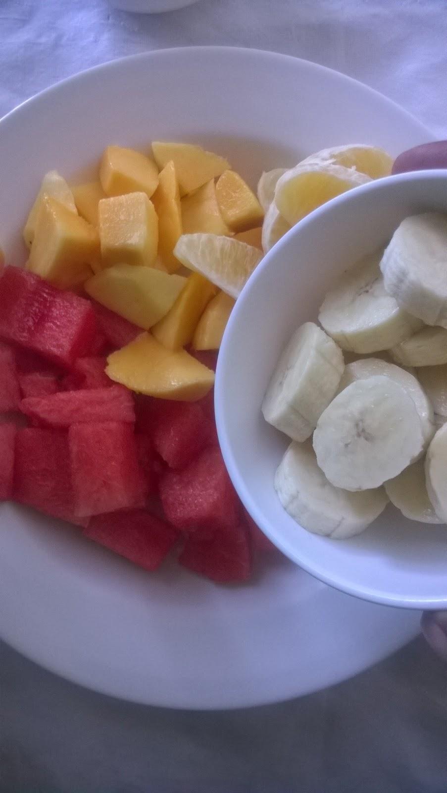 ORANGE BANANA WATERMELON FRUIT SALAD