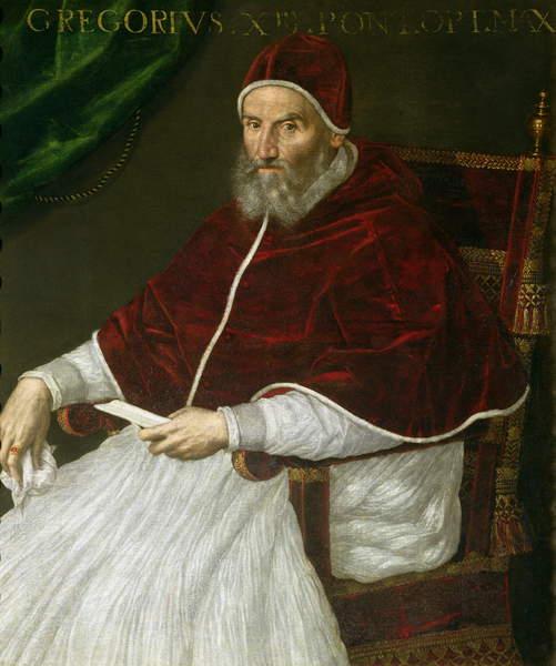 Pope Gregory XIII, portrait by Lavinia Fontana, 16C.