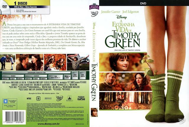 Capa DVD A Estranha Vida de Timothy Green