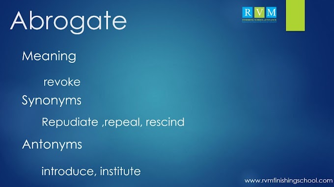 """Word Of The Day """"Abrogate"""""""