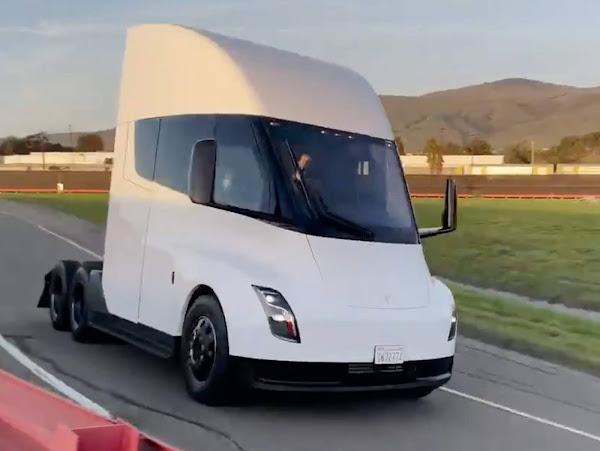 Tesla Semi: caminhão elétrico é mostrado em teste de pista