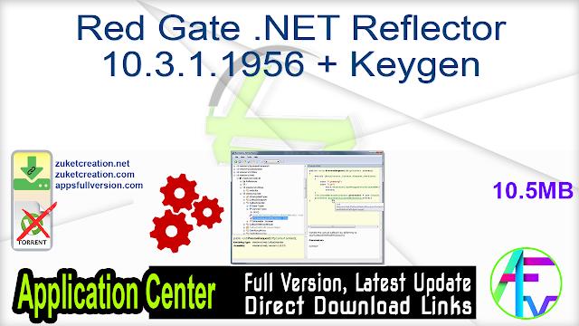 Red Gate .NET Reflector 10.3.1.1956 + Keygen