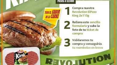 Prueba gratis las hamburguesas Revolution de El Pozo King