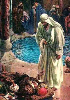 Jesus no tanque de Betesda