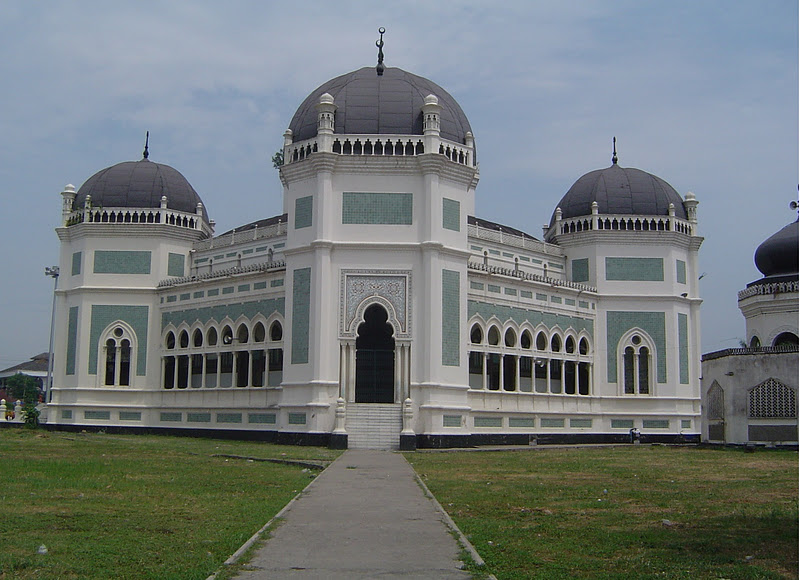 Amazing Indonesia Raya Al Mashun Mosque Medan