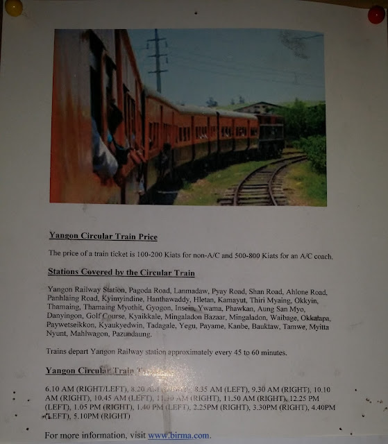 Información acerca del Tren Circular de Yangón