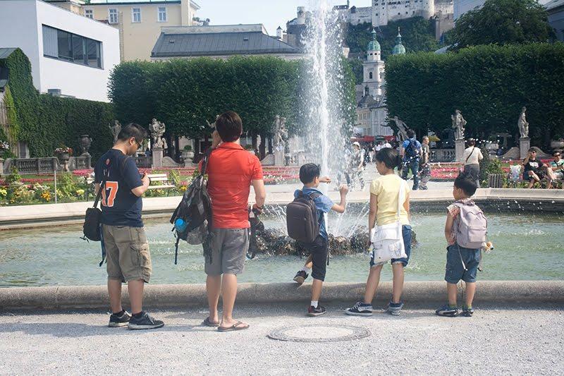 Salzburg fountain mirabell
