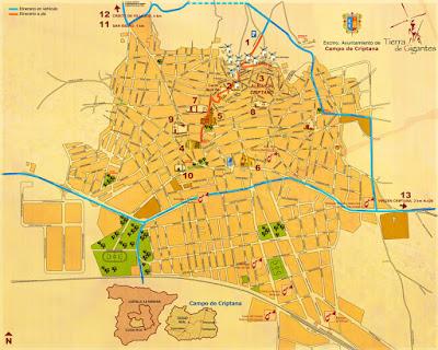 Mapa de Campo de Criptana.