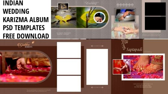 indian wedding karizma album psd templates free download 2020