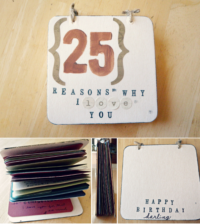 25 Inexpensive Diy Birthday Gift Ideas For Women: Oh Whimsical Me: DIY Gift For Him: (25) Reasons Why I Love You