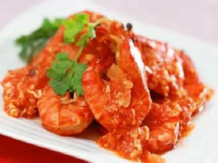Udang saus tomat yang benar-benar nikmat untuk dihidangkan