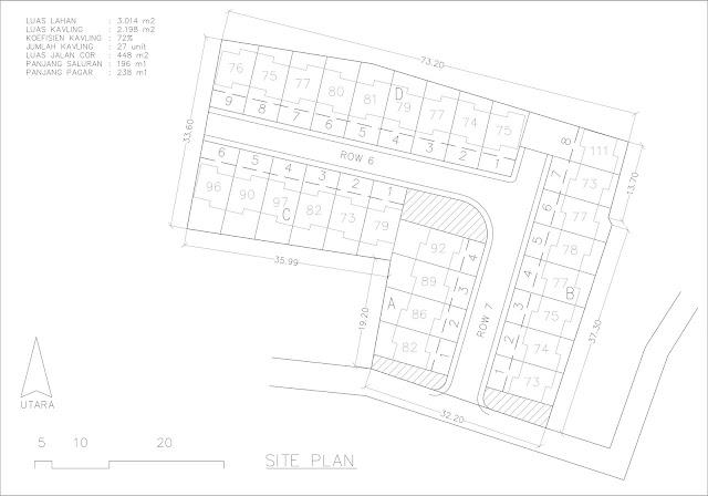 site plan di lahan sempit