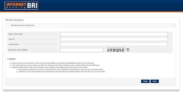 mengatasi lupa password internet banking bri