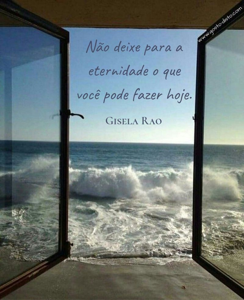 Pensamento de Gisela Rao