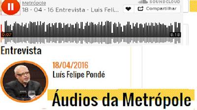 18/04/2016 Luís Felipe Pondé, em entrevista a rádio Metrópole