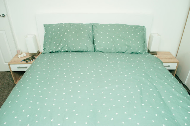 Front view of IKEA Malm Bed