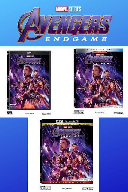 Avengers Endgame DVD Bluray 4K Ultra HD Release