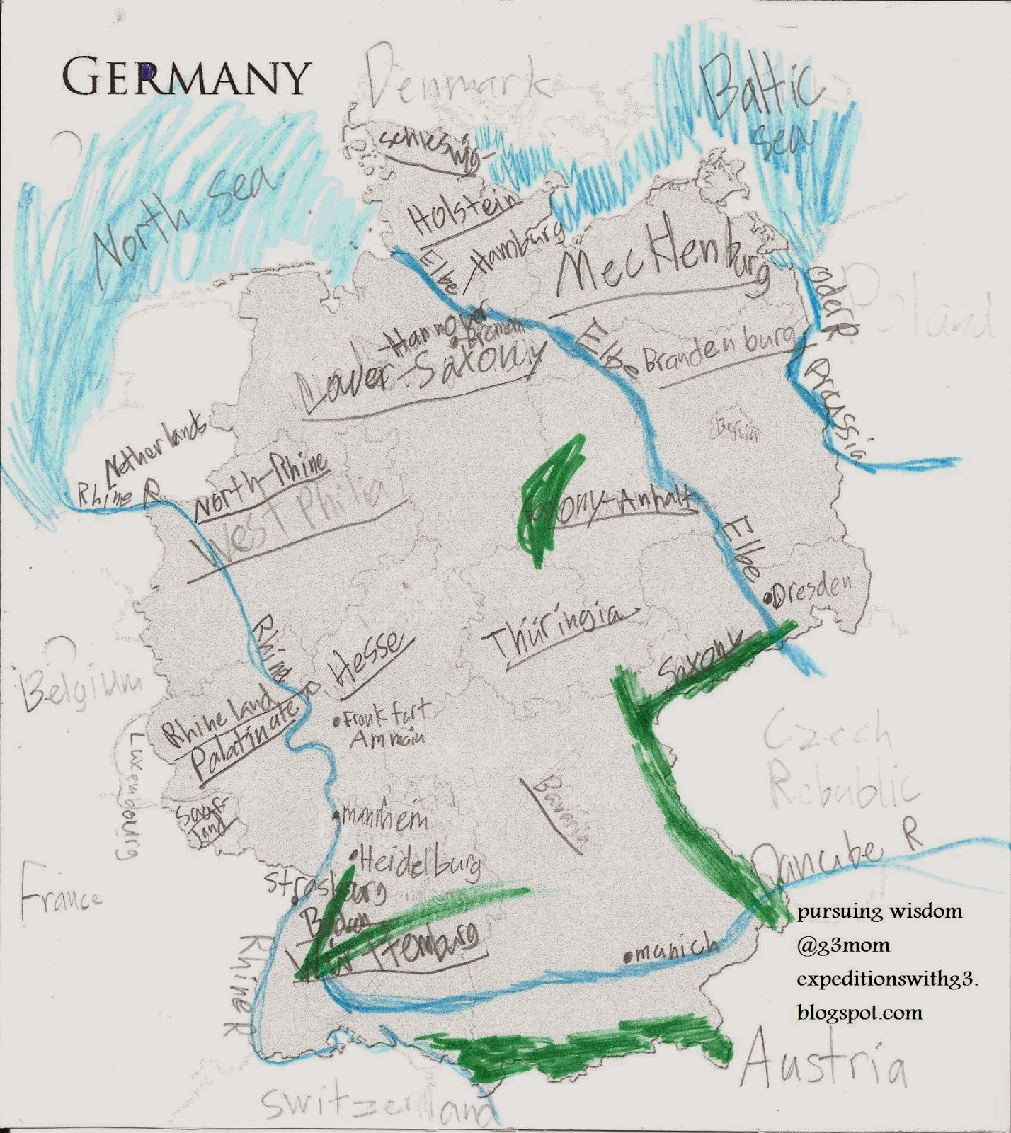 Rivers Of Germany Map.Expeditions With Three G S Geography Of Germany Maps Research