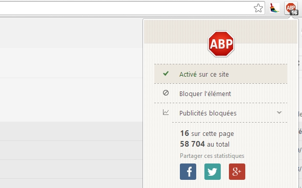 ad block plus sur chrome