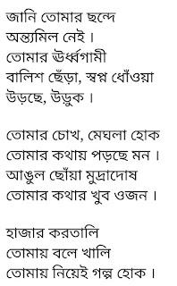 Tomay Niyei Golpo Hok Lyrics Anupam Roy