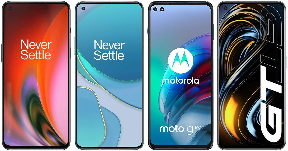 OnePlus Nord 2 vs OnePlus 8T vs Motorola Moto G100 vs Realme GT