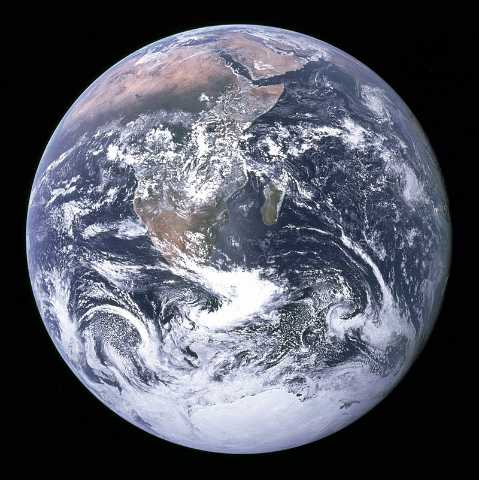 Earth image taken by the crew of Apollo 17- Facts about the earth