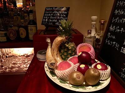 並べられたフルーツたち
